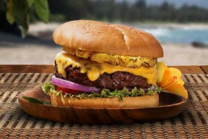 1/4 Burger with Pineapple & Cheese