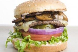 1/4 Burger with Mushroom & Cheese
