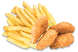 5 Chicken Nuggets, Chips & Drink