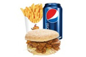 Meat & Chips, Can of Drink