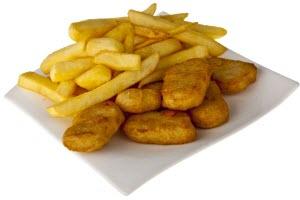 9 Chicken Nuggets & Chips